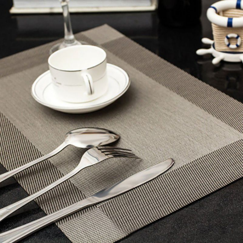 4PCS Quick Drying Insulation Placemats Table Mats Kitchen