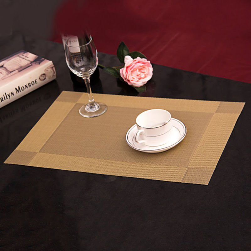 Charming 4pcs Table Placemats Set Insulated Quick Drying Place