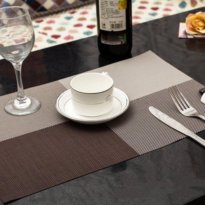 Insulation-Waterproof-PVC-Placemat-Mat-Pad-Kitchen-Dining-Tableware-Restaurants
