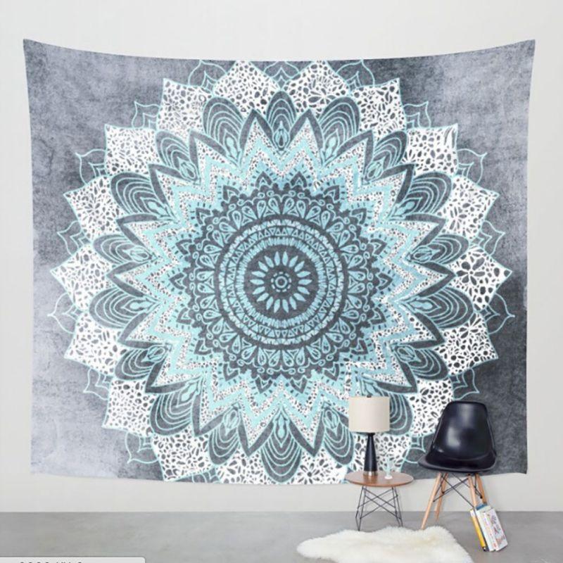 Indian Elephant Decor Mandala Tapestry Bedspread Wall