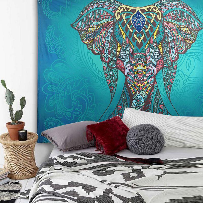 Elephant Wall Hanging Tapestry Bedspread Hippie Mandala Boho