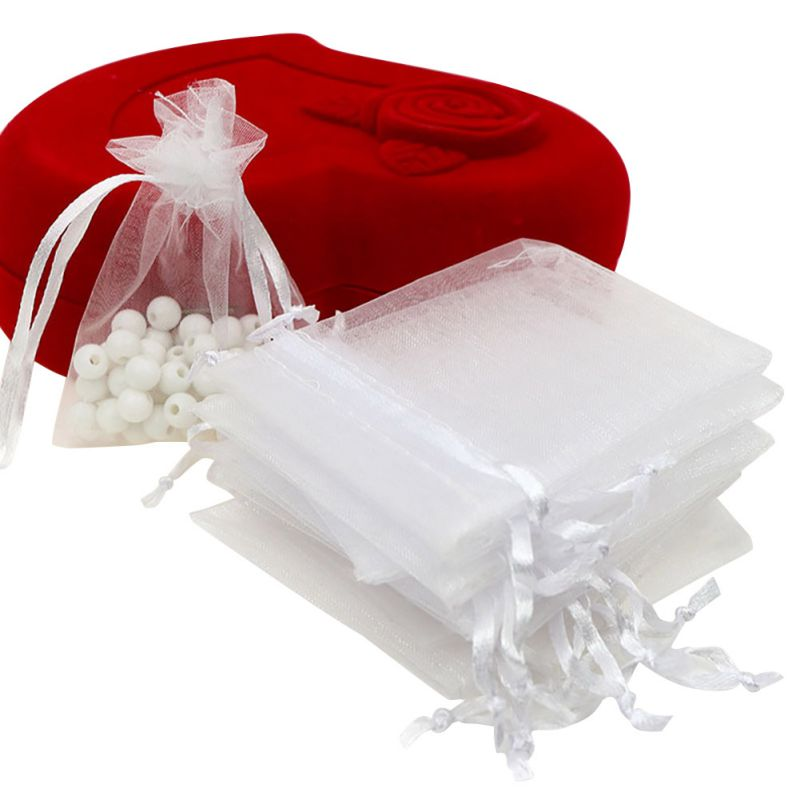 ... Wedding-Party-Mini-Gift-Bags-Pouches-Organza-Jewelry-Drawstring-Bag-UK