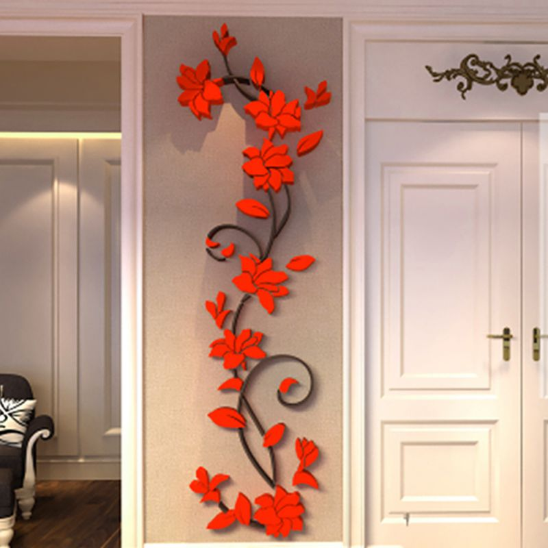 Ordinaire 3D Flower Beautiful DIY Mirror Wall Decals Stickers