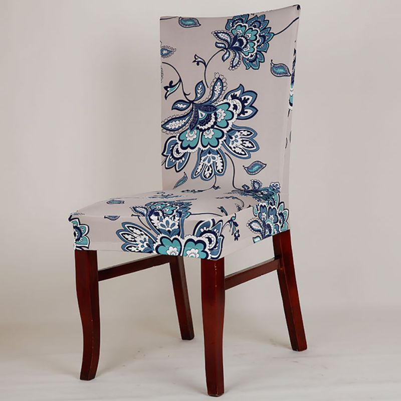 retro elastic dining room wedding banquet chair cover seat slipcover