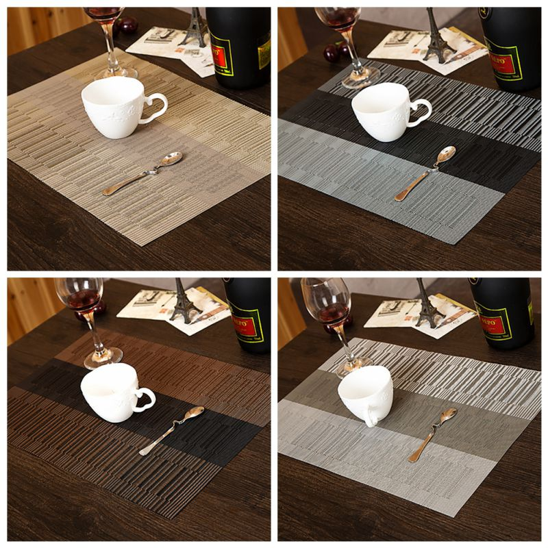 Home hotel kitchen dinner dining table mat placemat pad for Table placemats