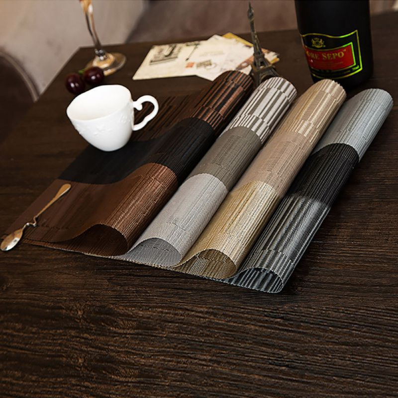 Image Is Loading 4pcs Set Modern Style Dining Table Placemat Waterproof