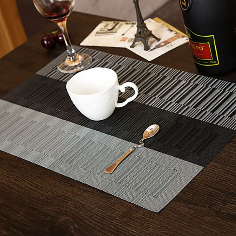 4pcs set modern style dining table placemat waterproof for Table placemats