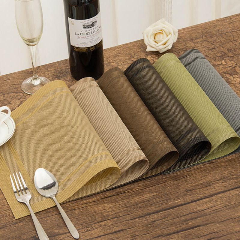 Dining Room Table Placemats: Waterproof Fabric Table Placemats Kiechen Dining Room