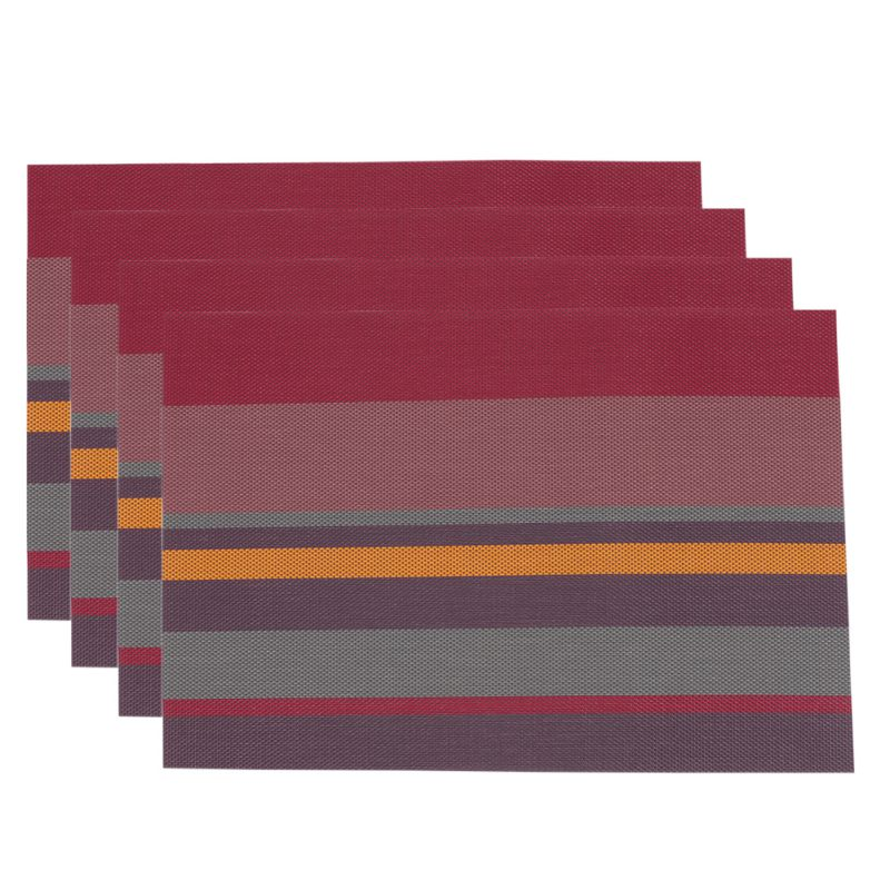 4pcs set insulate square placemats kitchen tableware restaurant table mat decors ebay. Black Bedroom Furniture Sets. Home Design Ideas