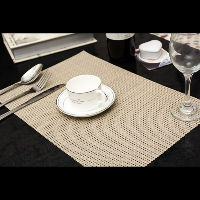 Pvc insulation bowl tableware placemat place mat coaster for Dinner table placemats