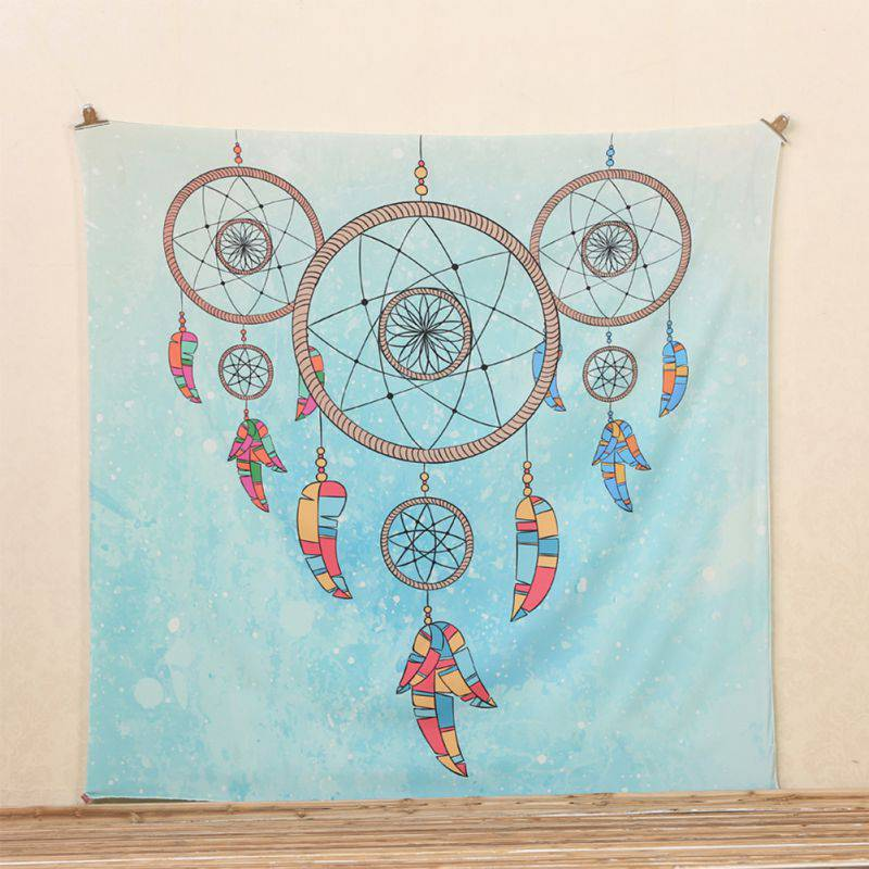 Wall Hanging Indian Hippie Tapestry Elephant Mandala