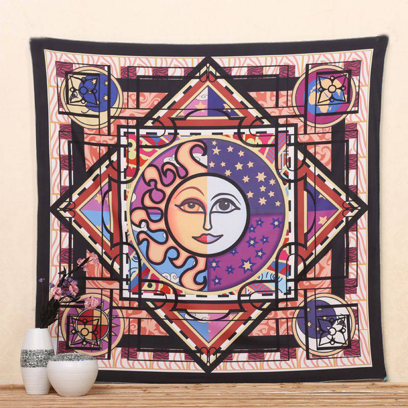 Retro indian decor mandala tapestry wall hanging hippie for Decoration hippie