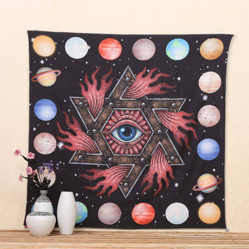 Retro Indian Decor Mandala Tapestry Wall Hanging Hippie