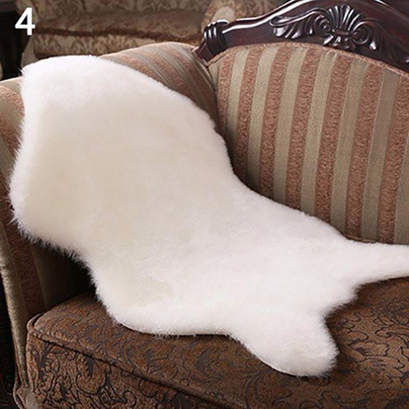 faux fur fluffy wool rug soft mat hairy sofa floor home room carpet washable hot. Black Bedroom Furniture Sets. Home Design Ideas