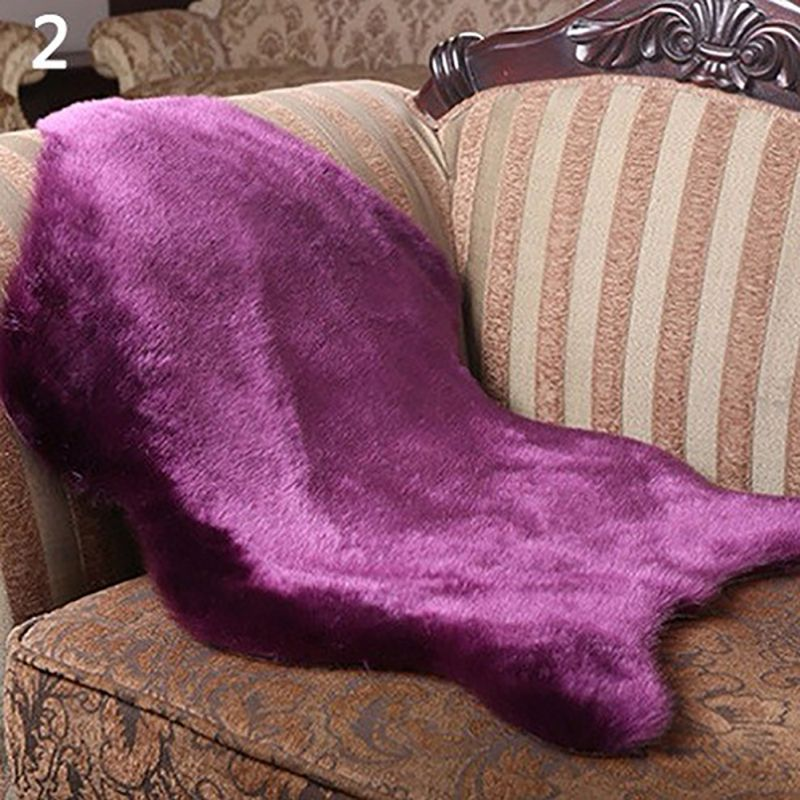Faux Fur Fluffy Wool Rug Soft Mat Hairy Sofa Home Room
