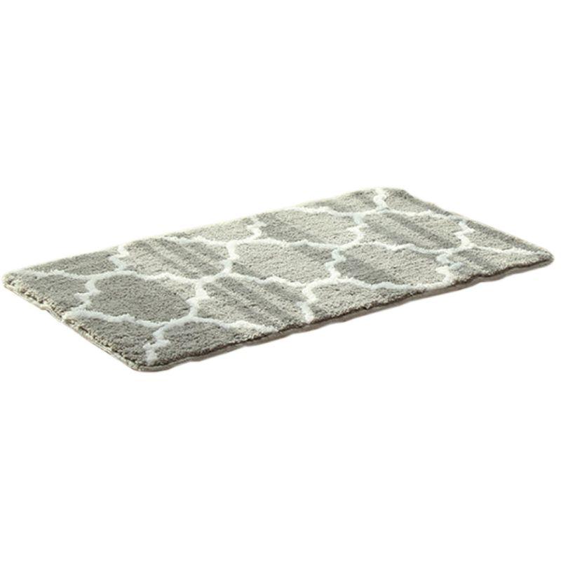 Non Slip Fluffy Bathroom Shower Lattice Mat Floor Rug