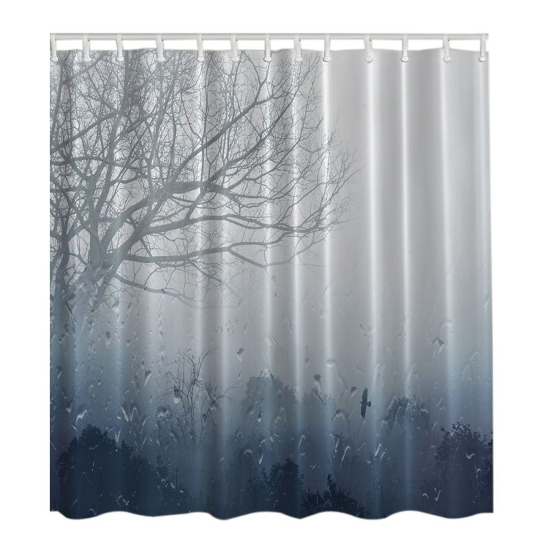 Waterproof Bathroom Shower Curtain Fabric Animal Printing Tree