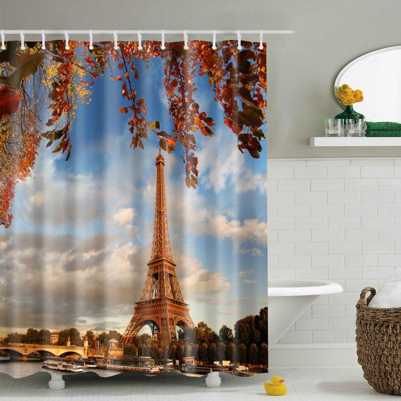 Waterproof Fabric Nature Scenery Bathroom Shower Curtain Panel ...