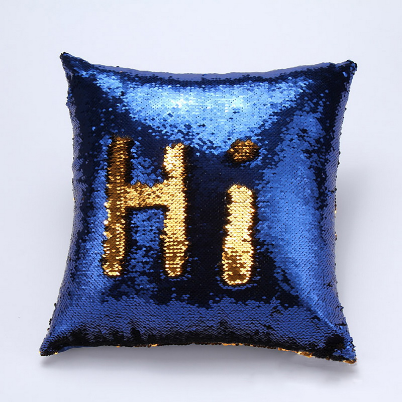 Home Sofa Bed Decor Reversible Sequin Glitter Throw Pillow Case Cushion Cover eBay