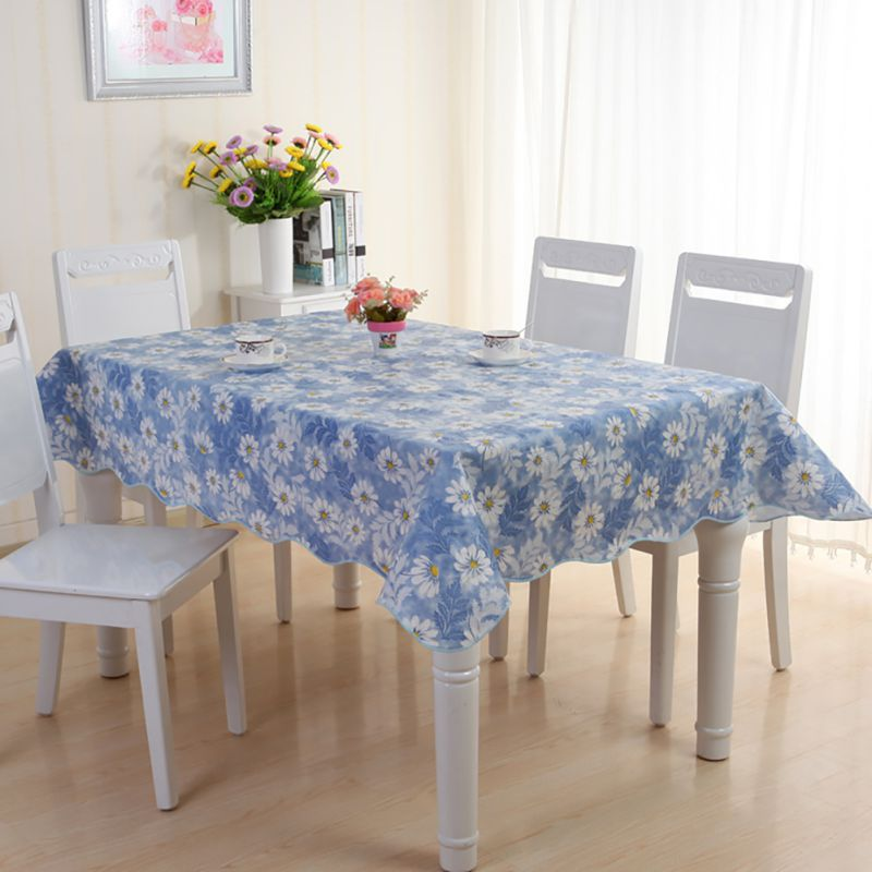Dining Room Table Covers Protection: Waterproof PVC Vinyl Wipe Clean Tablecloth Dining Kitchen