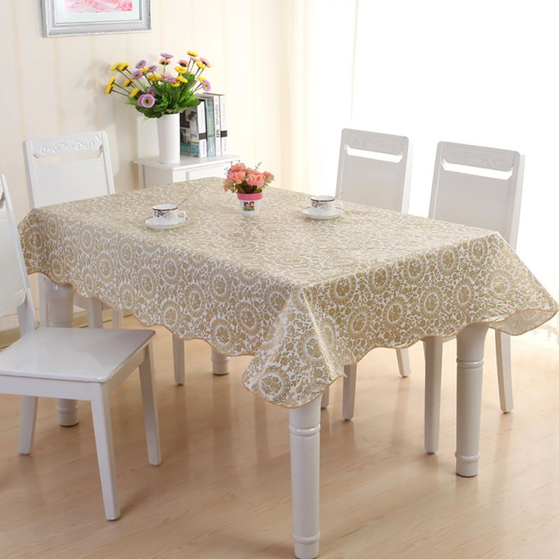 wipe clean pvc tablecloth dining kitchen table cover print