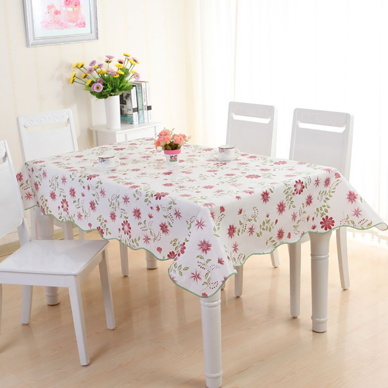table cover protector wipe clean peva tablecloth dining transparent table cover dining table tableware table