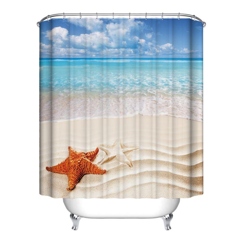 Waterproof Polyester Fabric Various Pattern 12 Hooks Bathroom Shower Curtain Ebay