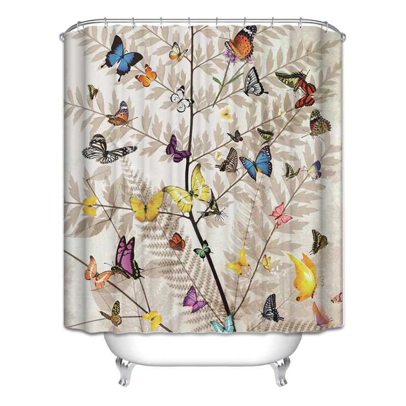 Animal Theme Waterproof Bathroom Shower Curtain Polyester