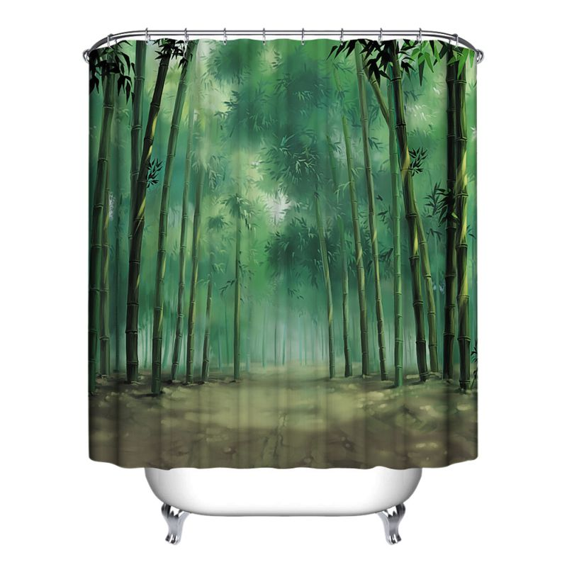 Modern Designer Polyester Bathroom Shower Curtain With 12 Hooks 150cm X 180cm Ebay