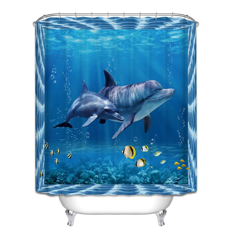 fish shower curtain 12 hook fish theme bathroom shower curtain 28792