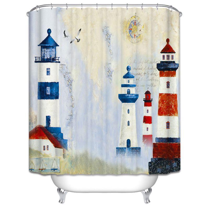 Art theme shower curtain bathroom decor 6 styles for Bathroom decor ebay