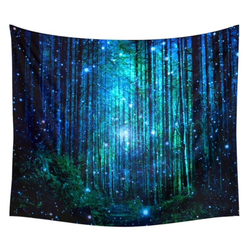 Wall Hanging Art Deco Tapestry : Fantastic ry of forest art wall hanging tapestry boho