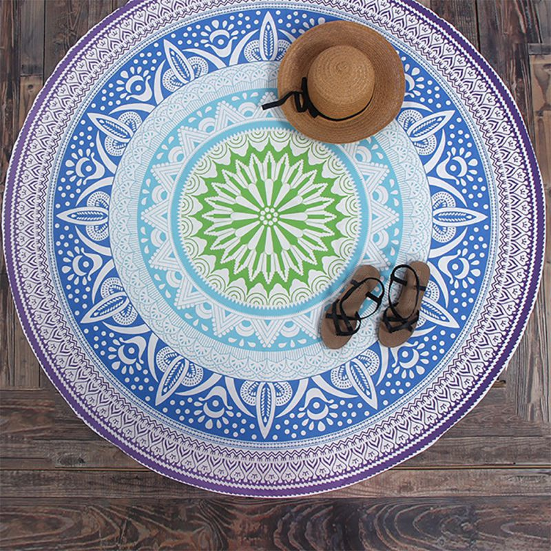 wall shawl floral beach blue yoga purple mat hanging bohemia round product towel tapestry