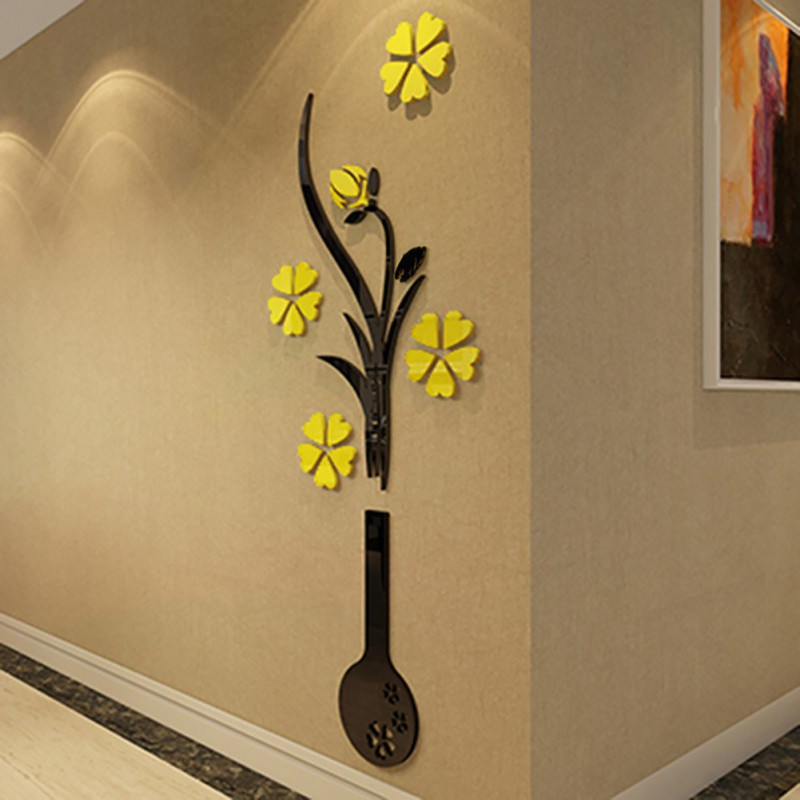 3d flower diy wall sticker decal art decor vinyl home for Diy photo wall mural