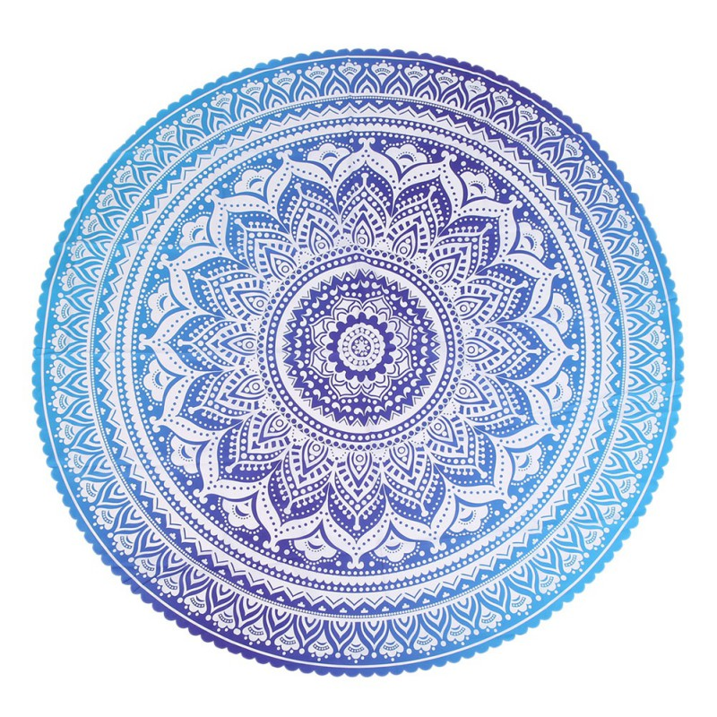tablecloth with tassel round circular tapestry mat sport beach product new balls picnic towel mats from yoga small decor flowers pattern