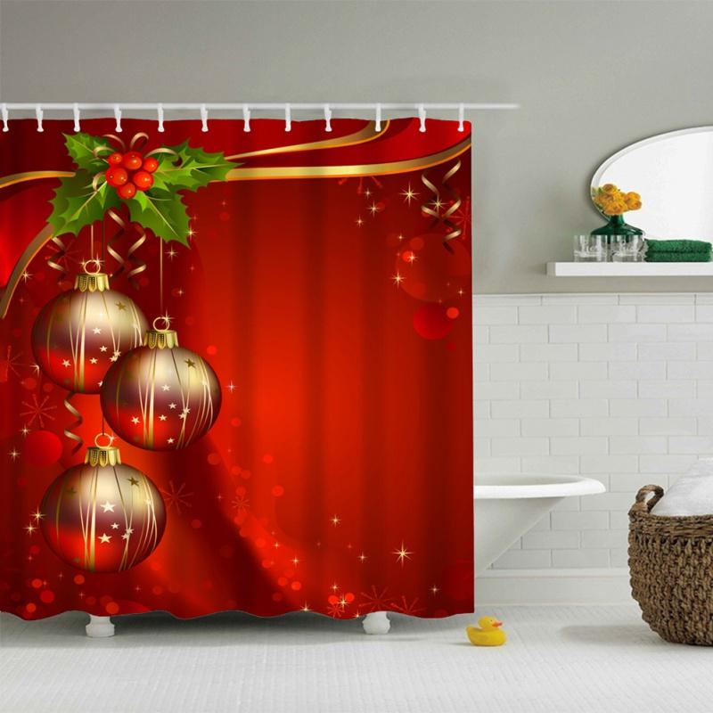 Home Decor Xmas Christmas Tree Snowman Bathroom Waterproof Bath
