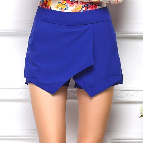 Women's High Waist Wrap Hot Pants Skorts Shorts Skirt Culottes Irregular S-XXL