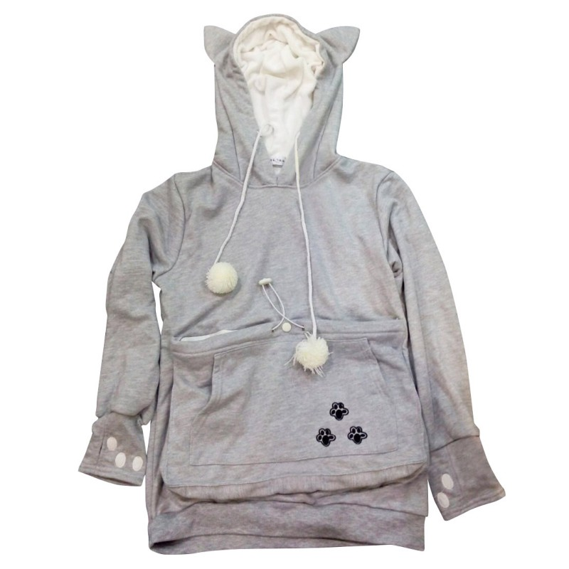 Women Cat Claw Hoodies Hooded Cuddle Pouch Pocket LOT Casual Pullover Sweatshirt