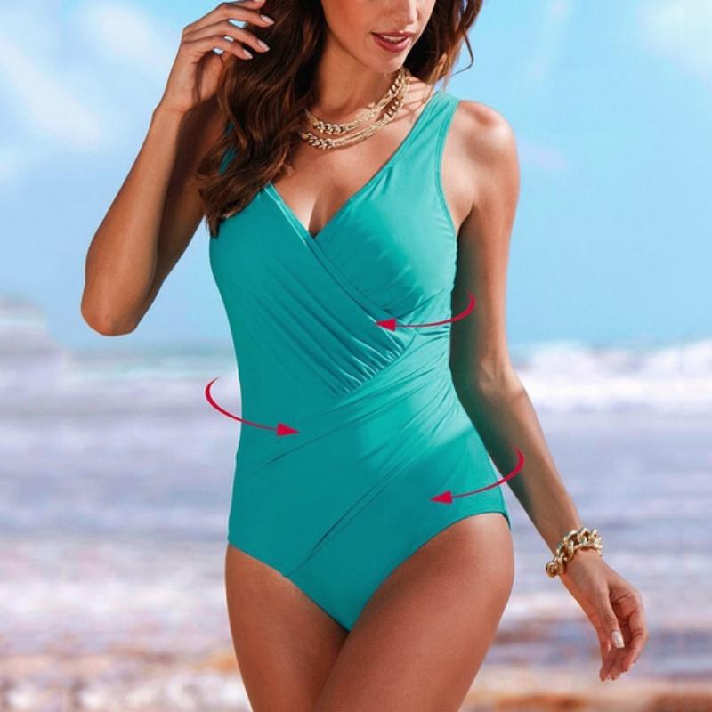 one piece women 39 s dot monokini push up bikini swimsuit. Black Bedroom Furniture Sets. Home Design Ideas