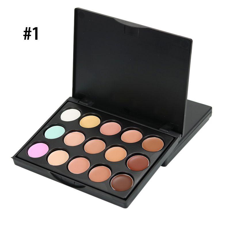 15 Colors Makeup Cream Concealer Highlight Face Foundation Pallete Set
