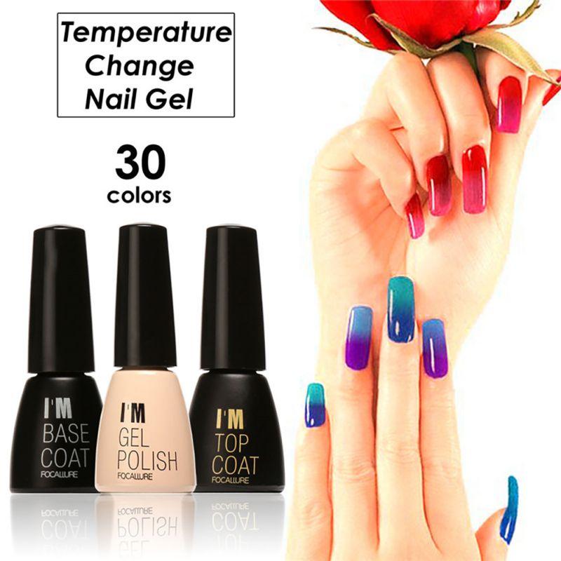 Color Changing Gel Nail Polish: UV Gel Nail Polish Color Temperature Changing Manicure