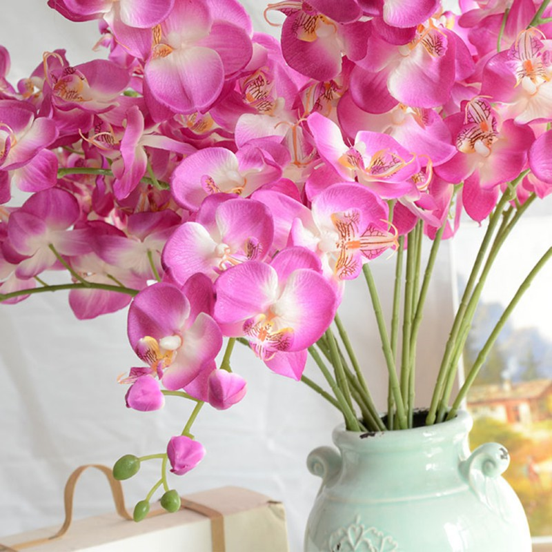 New plastic fake butterfly orchid flower phalaenopsis for Orchid decor