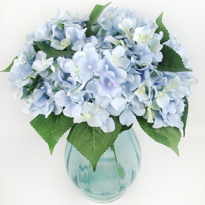 Artificial Fake Flowers Bouquet Silk Hydrangea Bush Wedding