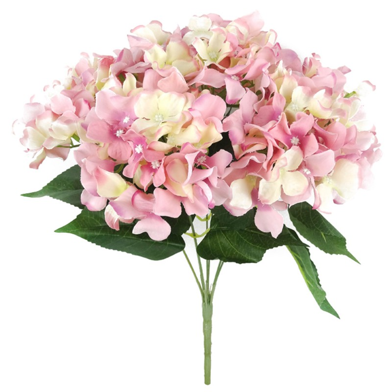artificial fake flowers bouquet silk hydrangea bush