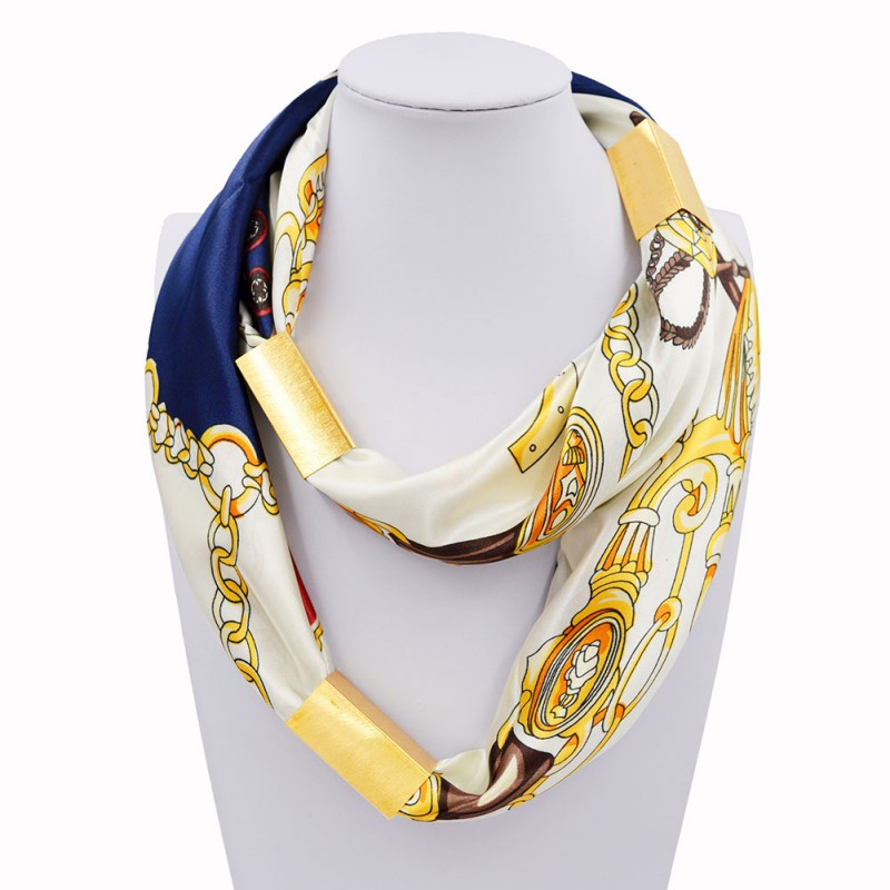 fashion silk necklace scarf necklace gold