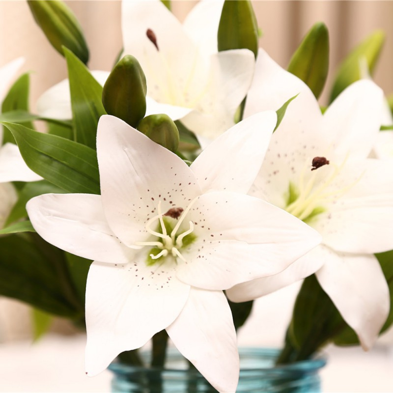 Easter Flowers Wedding: Realistic Artificial Lily Latex Flower Wedding Party Home