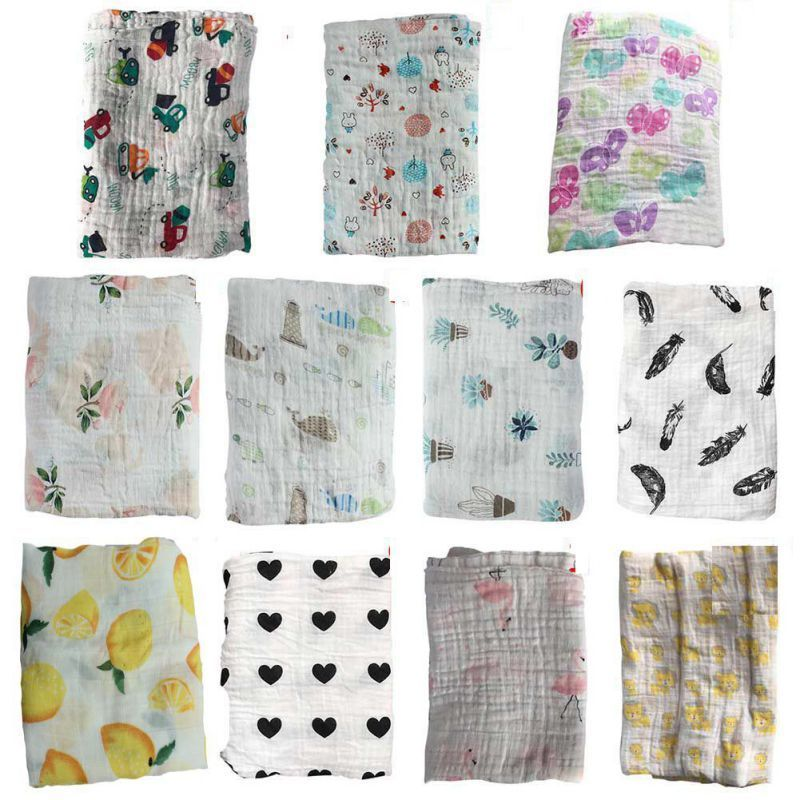 Baby Newborn Swaddle Blanket Muslin Wrap Infant Towel Sleepi