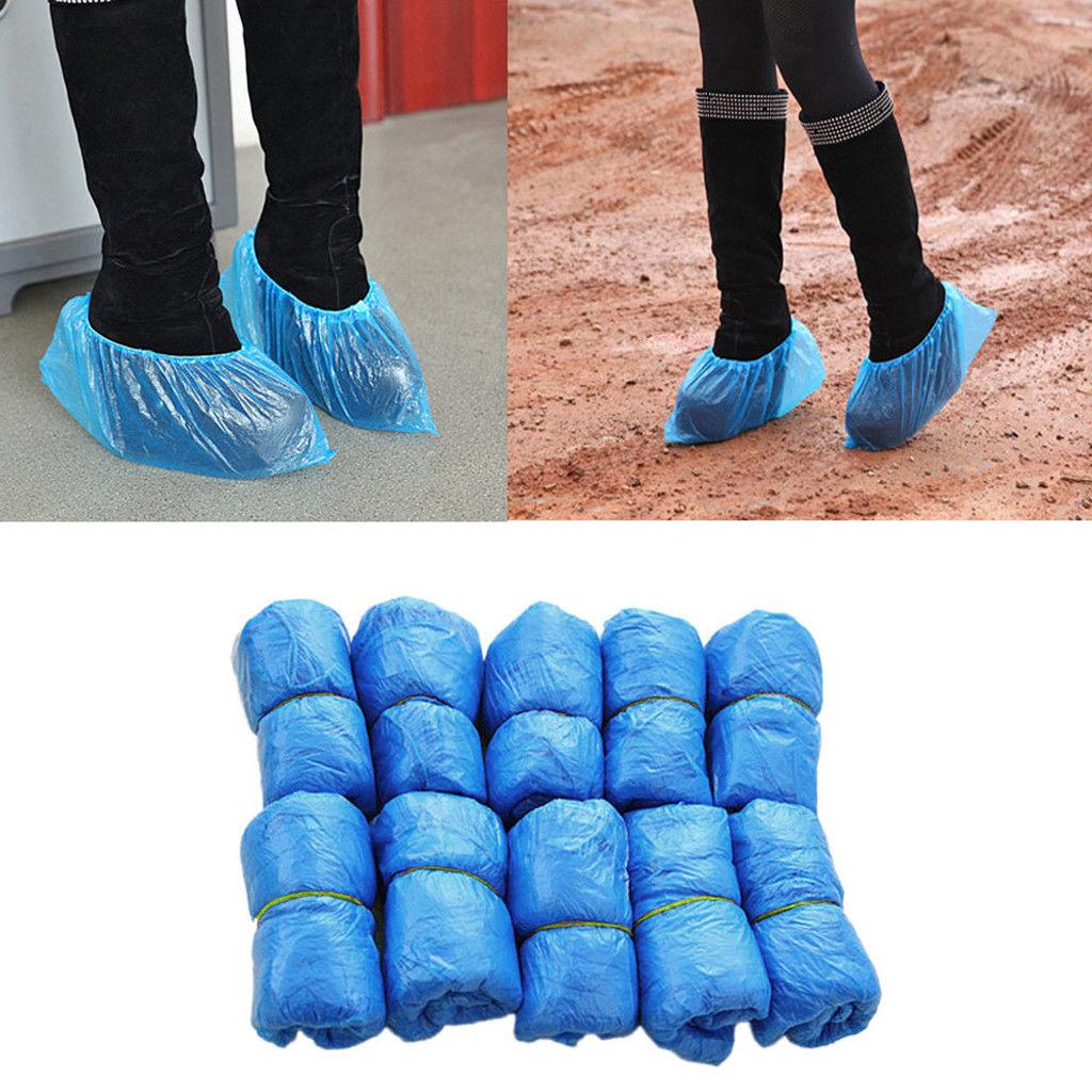 50x waterproof overshoes plastic blue bulk boot
