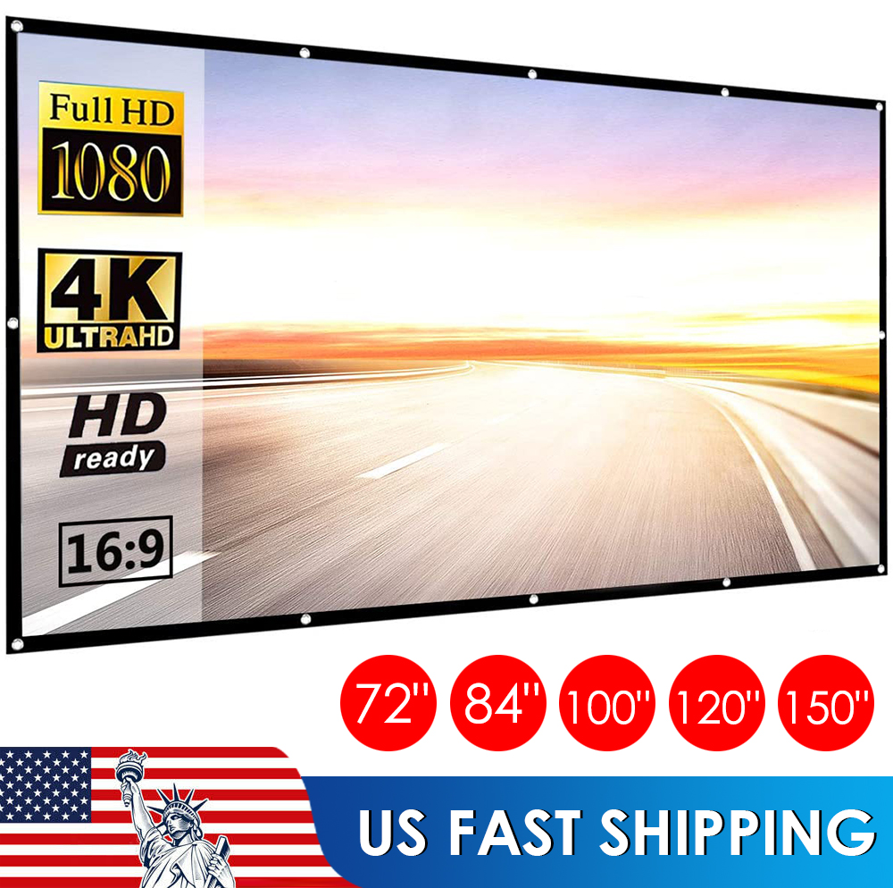 """100"""" / 120"""" Inch Projection Projector Screen Fabric 16:9 Por"""