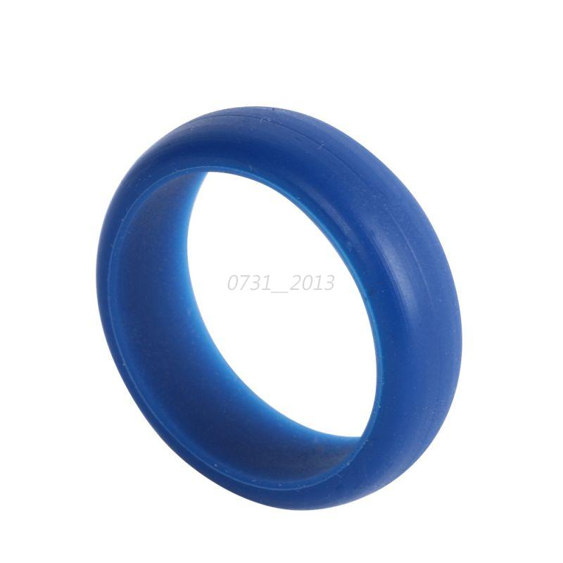 Plastic Wedding Bands >> Fashion Silicone Wedding Band Rings Men Women Flexible Solid Color